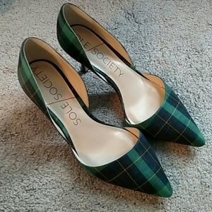 Sole Society green pumps. Size 7.5.